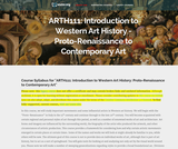 Introduction to Western Art History: Proto-Renaissance to Contemporary Art
