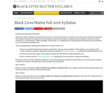 Black Lives Matter Fall 2016 Syllabus – Black Lives Matter Syllabus