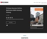 Baltimore 20th Century History
