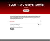 SCSU APA Style Tutorial