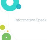 Public Speaking Course Content, Informative Speaking, Informative Speaking Resources