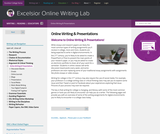 Online Writing & Presentations