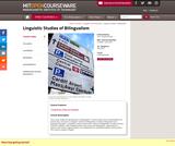 Linguistic Studies of Bilingualism, Fall 2012
