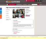 High-Intermediate Academic Communication, Spring 2004