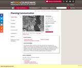 Planning Communication, Spring 2007