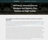 Introduction to Western Art History: Pre-historic to High Gothic