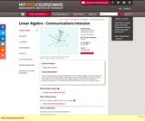 Linear Algebra - Communications Intensive, Spring 2004