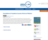 Foundations of Academic Success: Words of Wisdom | Open SUNY Textbooks