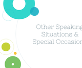 Public Speaking Course Content, Other Speaking Situations & Occasions, Other Speaking Situations & Occasions Resources
