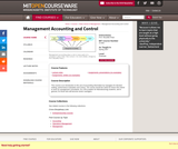 Management Accounting and Control, Spring 2007