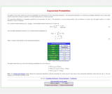 Exponential Probabilities