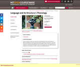 Language and Its Structure I: Phonology, Fall 2010