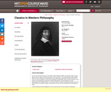 Classics in Western Philosophy, Spring 2006