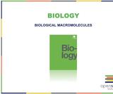 Biology I Course Content, Biological Macromolecules, Biological Macromolecules Resources