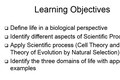 Chapter 1 - Introduction to Biology