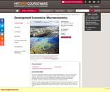 Development Economics: Macroeconomics Spring 2013