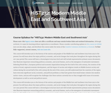Modern Middle East and Southwest Asia