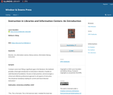 Instruction in Libraries and Information Centers: An Introduction
