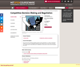 Competitive Decision-Making and Negotiation, Spring 2011